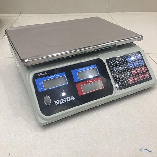 Cân điện tử tính tiền Ninda 268